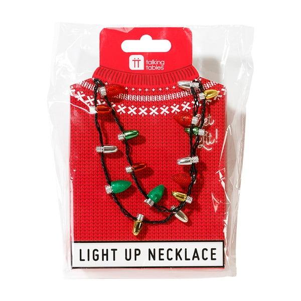 Vánoční náhrdelník s barevnými světýlky Talking Tables