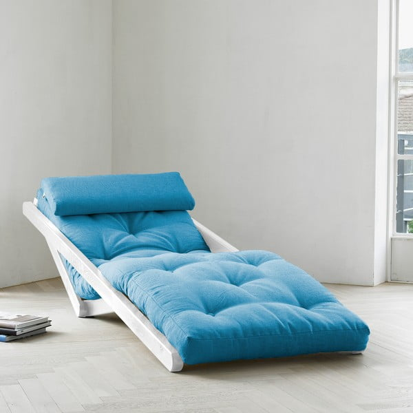 Lenoška Karup Figo White/Horizon Blue, 70 cm