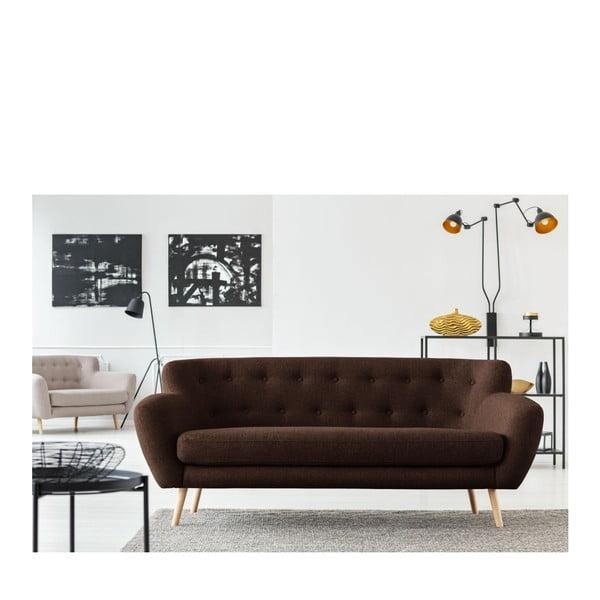 Canapea cu 3 locuri Cosmopolitan design London, maro