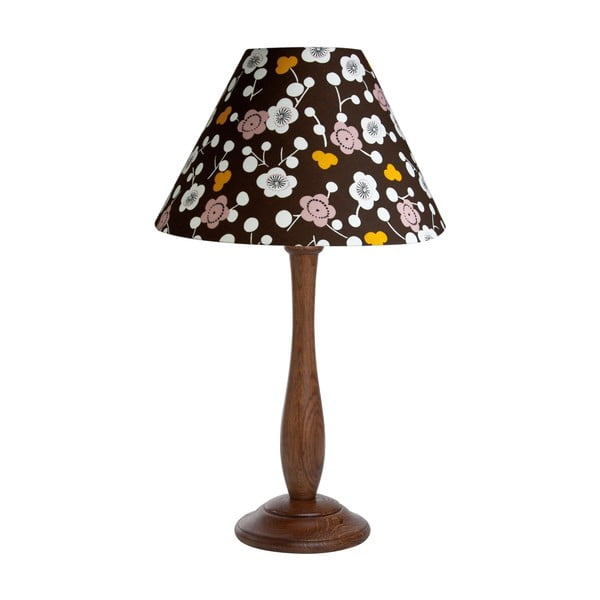 Stolní lampa Flowers Brown/Walnut