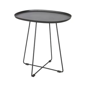 Černý odkládací stolek WOOOD Otis Luna