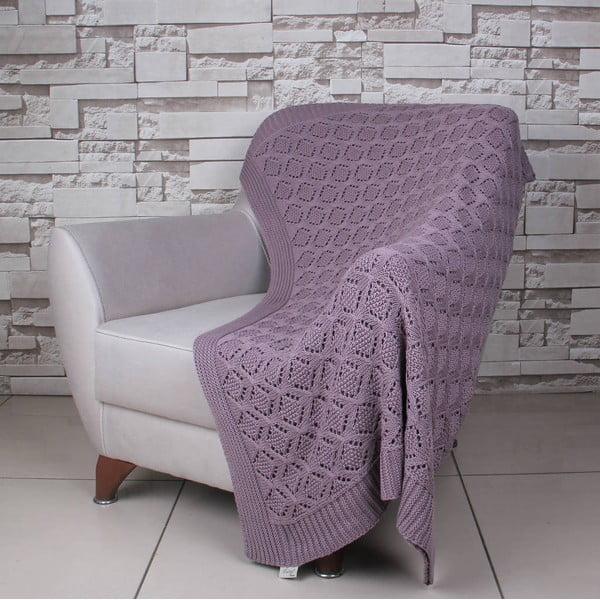 Fialová bavlněná deka Ciana