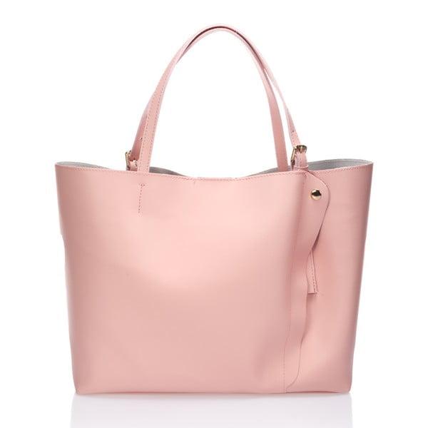 Kožená kabelka Graema, růžová