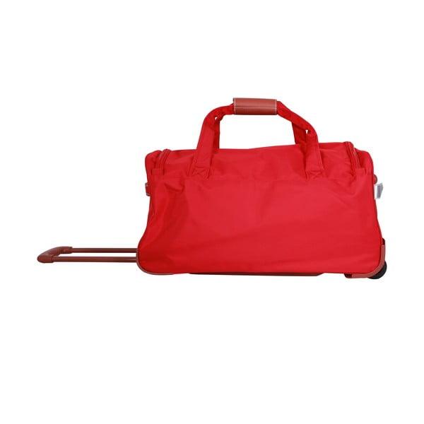 Taška na kolečkách Jean Louis Scherrer Red, 60 l