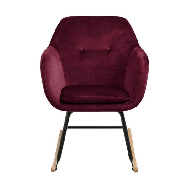 Czerwony fotel bujany Actona Emilia