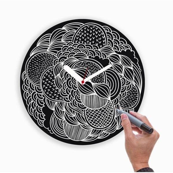 Nástěnné hodiny Draw Up Wall Black