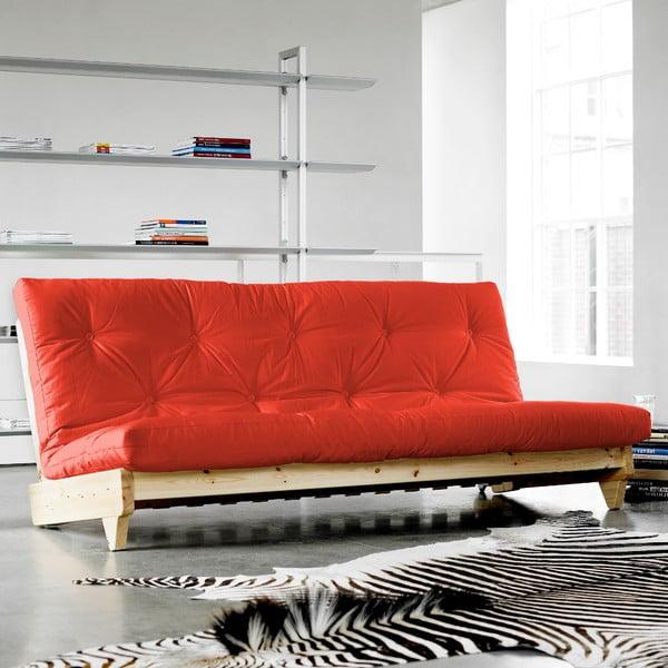Canapea extensibilă Karup Fresh Natural/Red