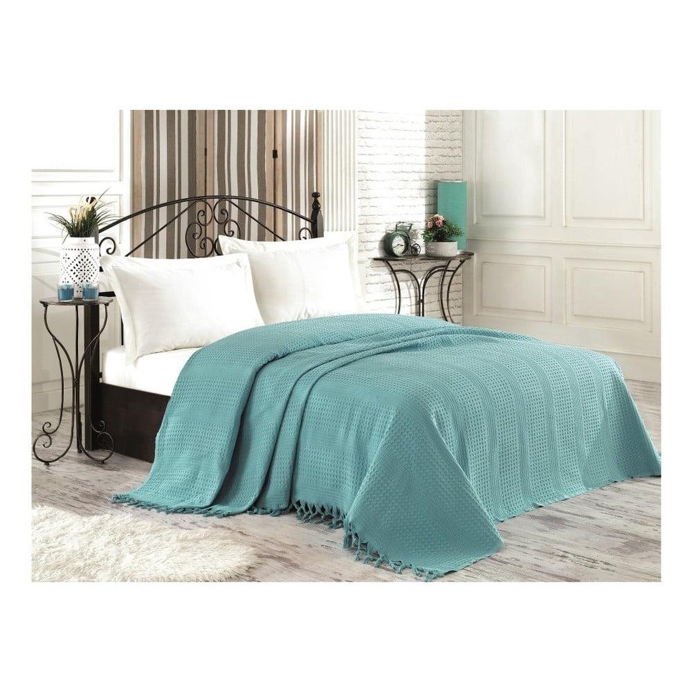 tyrkysov bavln n p ehoz p es postel na dvoul ko richard 220 x 240 cm bonami. Black Bedroom Furniture Sets. Home Design Ideas