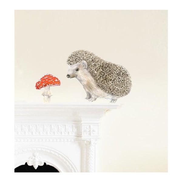 Znovu snímatelná samolepka Hedgehog, 30x21 cm