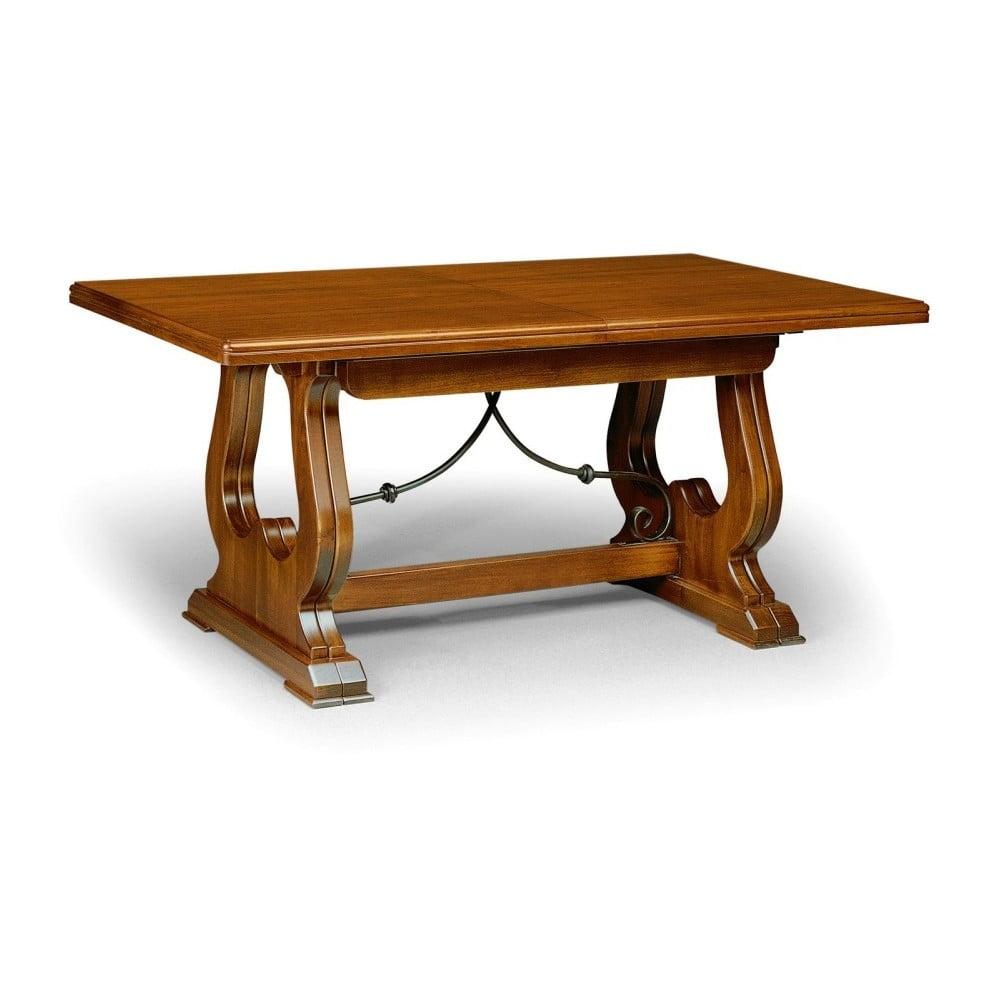 Dřevěný rozkládací jídelní stůl Castagnetti Decorazione, 180 x 80 cm