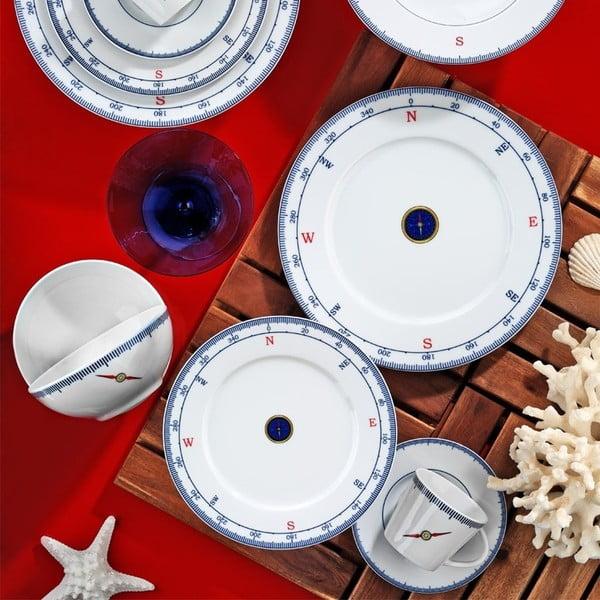 24-częściowy zestaw talerzy porcelanowych Kutahya Panetio