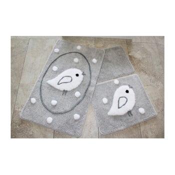 Set 3 covorașe de baie Confetti Bathmats Birdie imagine