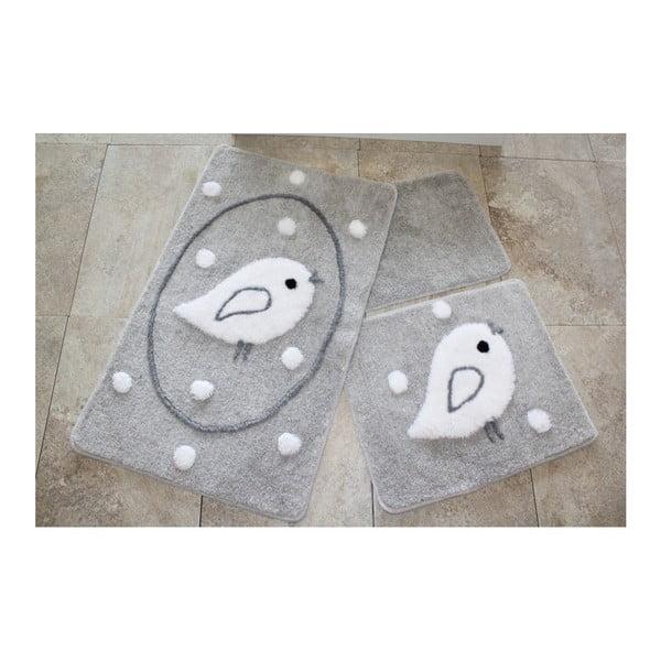 Set 3 covorașe de baie Confetti Bathmats Birdie