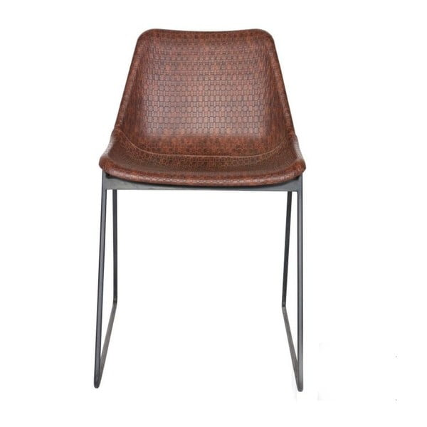 Hnědá židle BePureHome Stainly