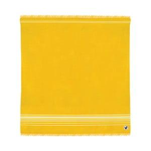 Žlutá osuška Origama Flat Seat, 200x200cm