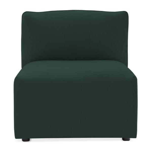 Modul de mijloc pentru canapea Vivonita Velvet Cube, verde închis