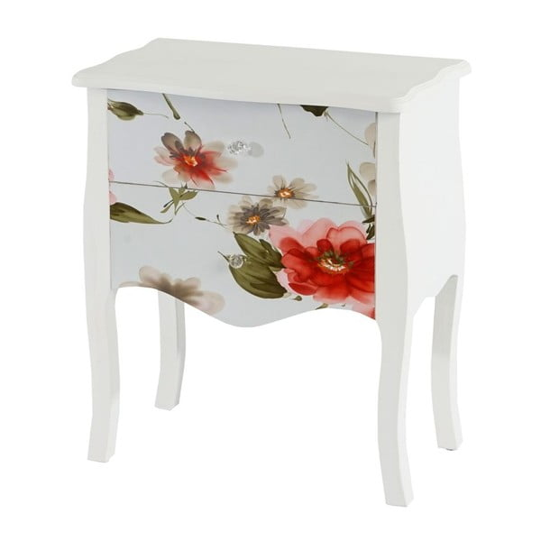 Stolek se zásuvkami Dresser Flowers, 70x60x36 cm
