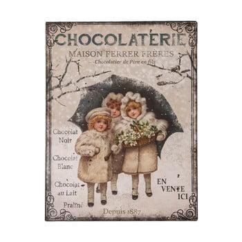 Tăbliță metal Antic Line Chocolaterie, 25 x 33 cm imagine