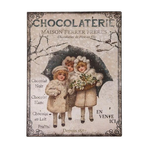 "Metalowa tablica Antic Line ""Chocolaterie"""