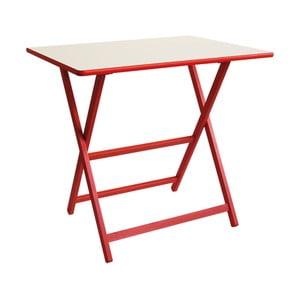 Červený skládací stůl z bukového dřeva Valdomo Papillon, 60x80cm