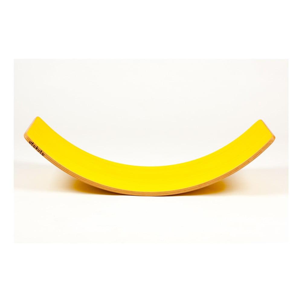 Žluté bukové houpací prkno Utukutu, délka82cm