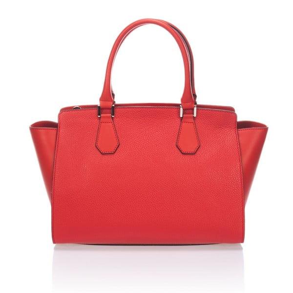 Kožená kabelka Krole Kristen, červená