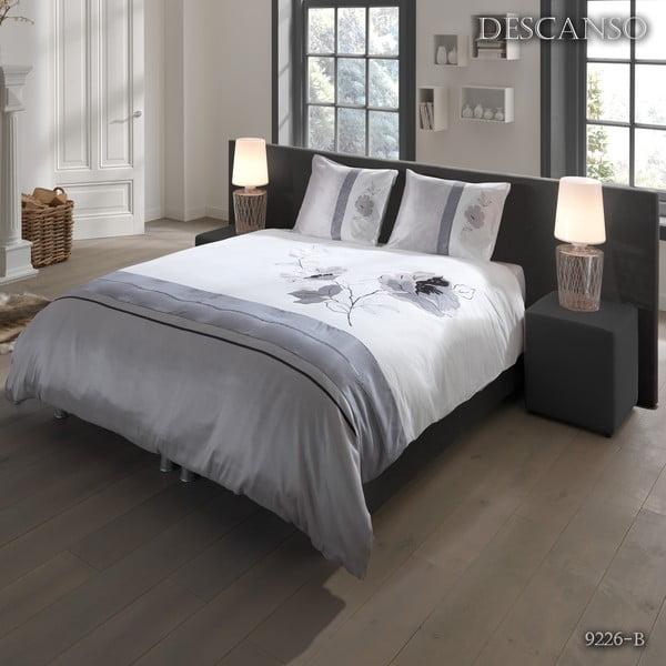 Povlečení Descanso Textile Grey, 140x200 cm