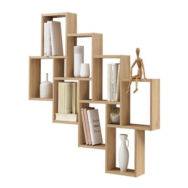 Police na knihy v dekoru broušeného bukového dřeva 13Casa Liberty