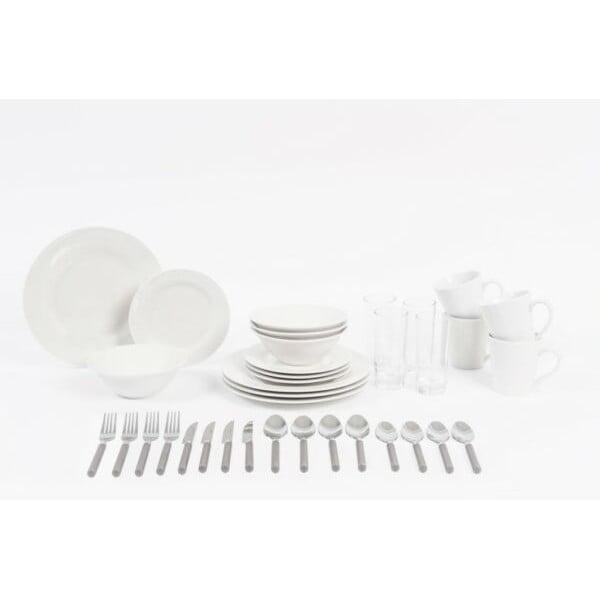 36-częściowy komplet naczyń porcelanowych i sztućców Sabichi Dining