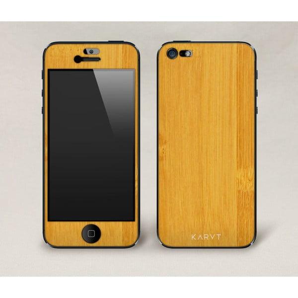 Oboustranný dřevěný kryt na iPhone 5, bambus