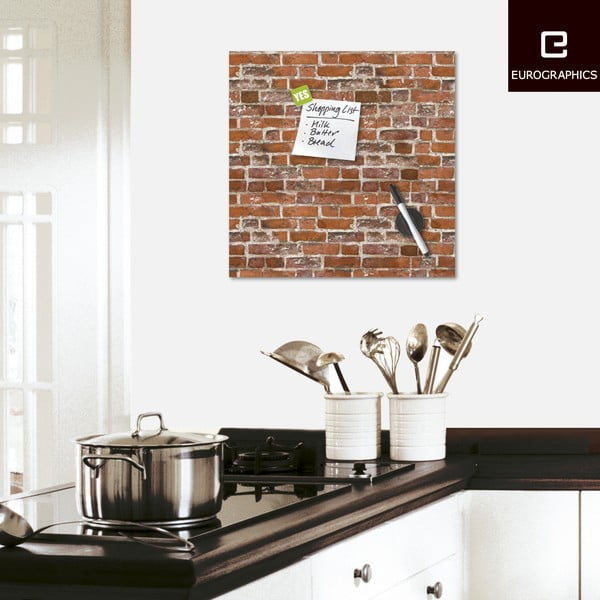 Magnetická tabule Eurographics Brick Loft, 50x50cm
