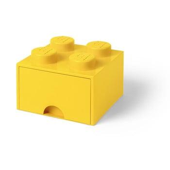 Cutie depozitare cu sertar LEGO®, galben de la LEGO®