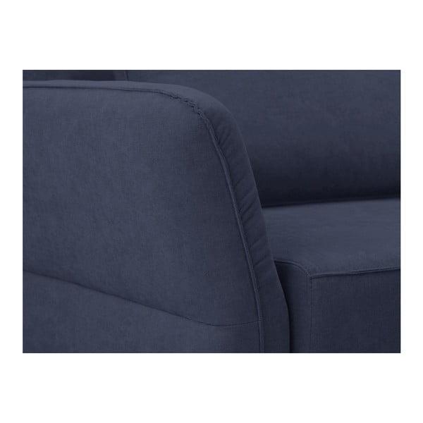 Tmavě modrá třímístná rozkládací pohovka Windsor & Co Sofas Casiopea