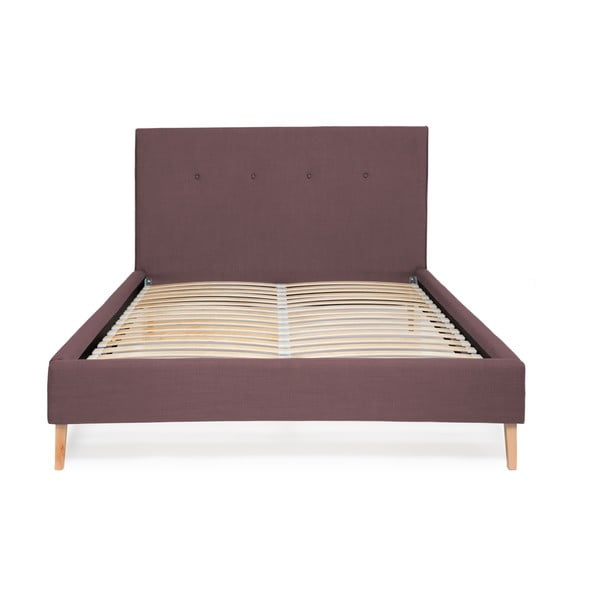 Fioletowe łóżko Vivonita Kent Linen, 200x160cm