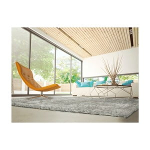 Šedý koberec vhodný i na ven Universal Aloe Liso, 80 x 150 cm