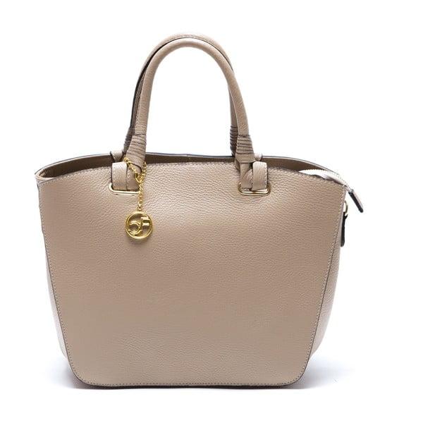 Kožená kabelka Ciara, béžová