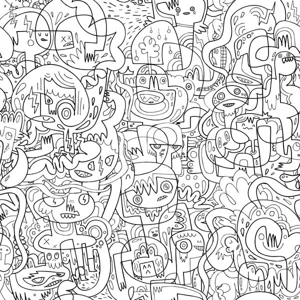 Tapeta Burgerdoodles Mash Colour-In