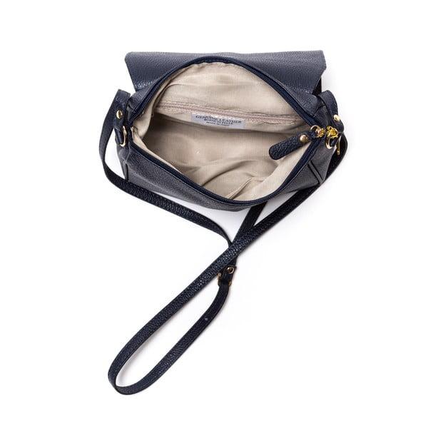 Kožená kabelka Ariela, tmavě modrá
