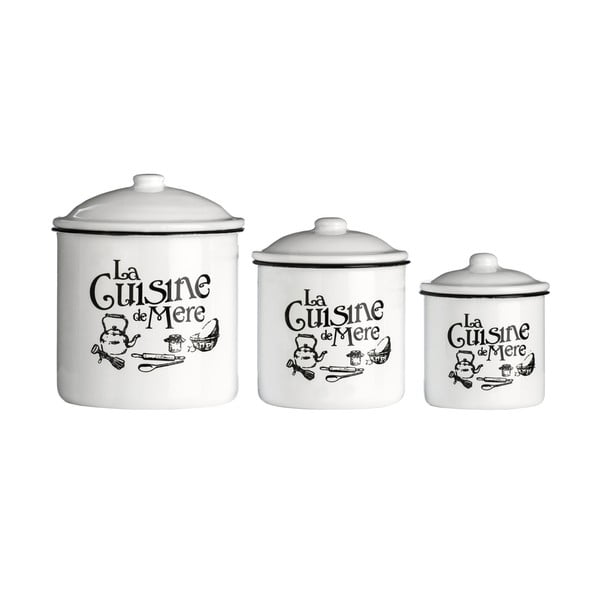 Zestaw 3 pojemników Premier Housewares La Cuisine De Mere