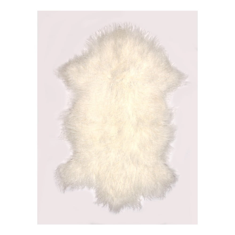 Krémově bílý vlněný koberec z ovčí kožešiny Auskin Torry, 60 x 80 cm