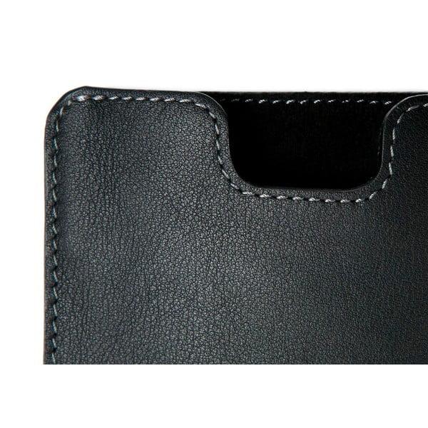 Danny P. kožená peněženka s kapsou na iPhone 5 Black