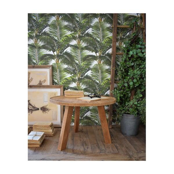 Odkladací stolík z teakového dreva Orchidea Milano Country, ø 60 cm