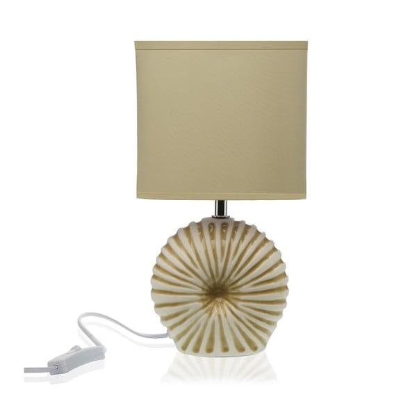 Béžová stolní keramická lampa Versa Thomas