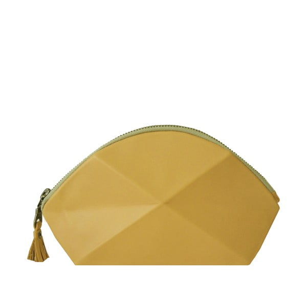 Psaníčko/kosmetická taška Pyramid, žlutá