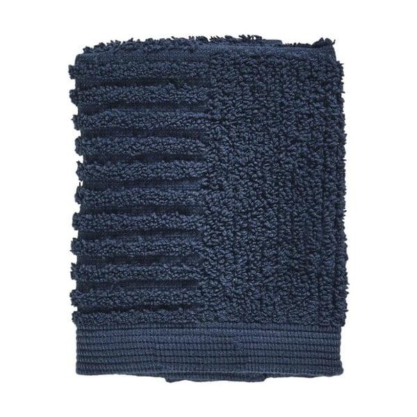 Tmavomodrý uterák zo 100% bavlny na tvár Zone Classic Dark Blue, 30×30 cm
