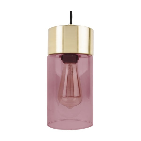 Růžové závěsné svítidlo Leitmotiv LAX