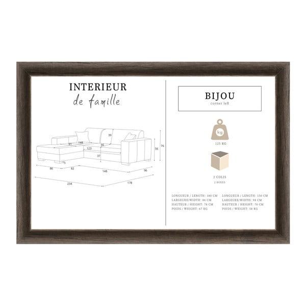 Šedohnědá sedačka Interieur De Famille Paris Bijou, levý roh