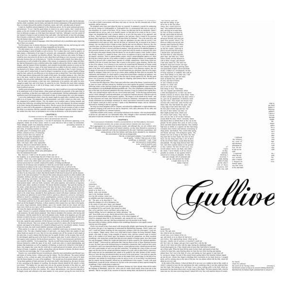 Knižní plakát Gulliverovy cesty, 100x70 cm