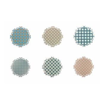 Set 6 suporturi colorate pentru farfurii Villa d'Este Lisboa, rotund imagine