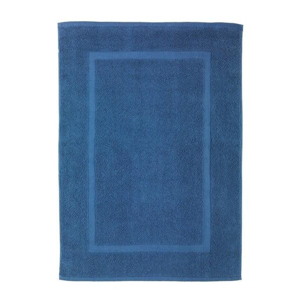 Modrá bavlněná koupelnová předložka Wenko Slate, 50x70cm